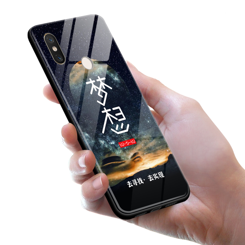 Tempered Glass Case for Xiaomi Mi 8 Full Cover + Screen Protection Film