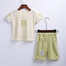 Fishlomila Baby Boy Summer Cotton Clothes Set Tee Short Shirt and  pant