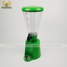 Green 3 Liters LED Beer Tower with Ice Tube and Cup Holder BT49