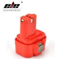 ELEOPTION Alta Qualidade 2000 mah 9.6 v Ni-CD Bateria Recarregável De Ferramenta De Poder para Makita PA09 9120 9122 6207D 192595-8  192596-6