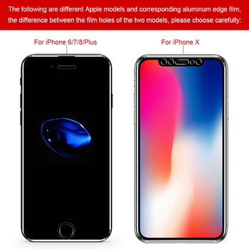 PLV 7D Aluminum Alloy  Full Cover Screen Protector Glass For iPhone 6 6S 7 Plus Tempered Glass For iPhone X 8 5 SE 5s Glass Film 1