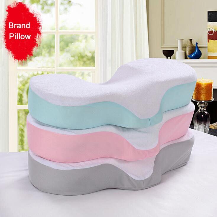Hohe Qualität Memory Foam Anti Falten Kissen Ergonomische Kurve Verbessern Schlafen Kissen Perfekte Konkaven Kopfstütze Nackenstütze