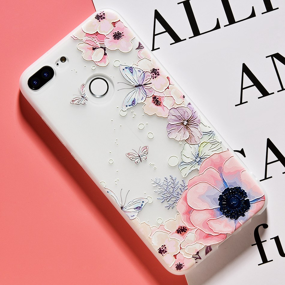 3D Relief Flower TPU Case For On Honor 9 9 lite Soft Silicone Case Back Cover Case for Huawei P20 P10 lite NOVA 2 Case           (23)