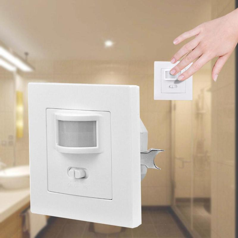 цена на Smart Home Infrared PIR Motion Sensor Switch Auto ON/OFF AC 110V-240V Human Body Move IR Induction Wall Module Light DS35