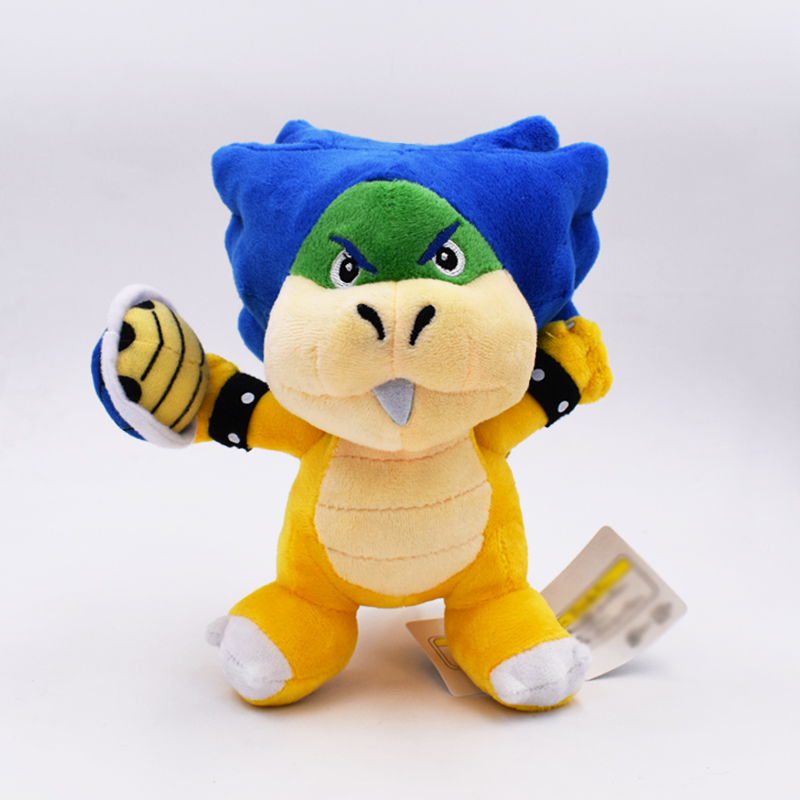 Free Shipping 1PCS 19cm Super Mario Koopa Plush Doll Ludwig With Blue Turtle Shell Stuffed Plush Toys With Tag 1