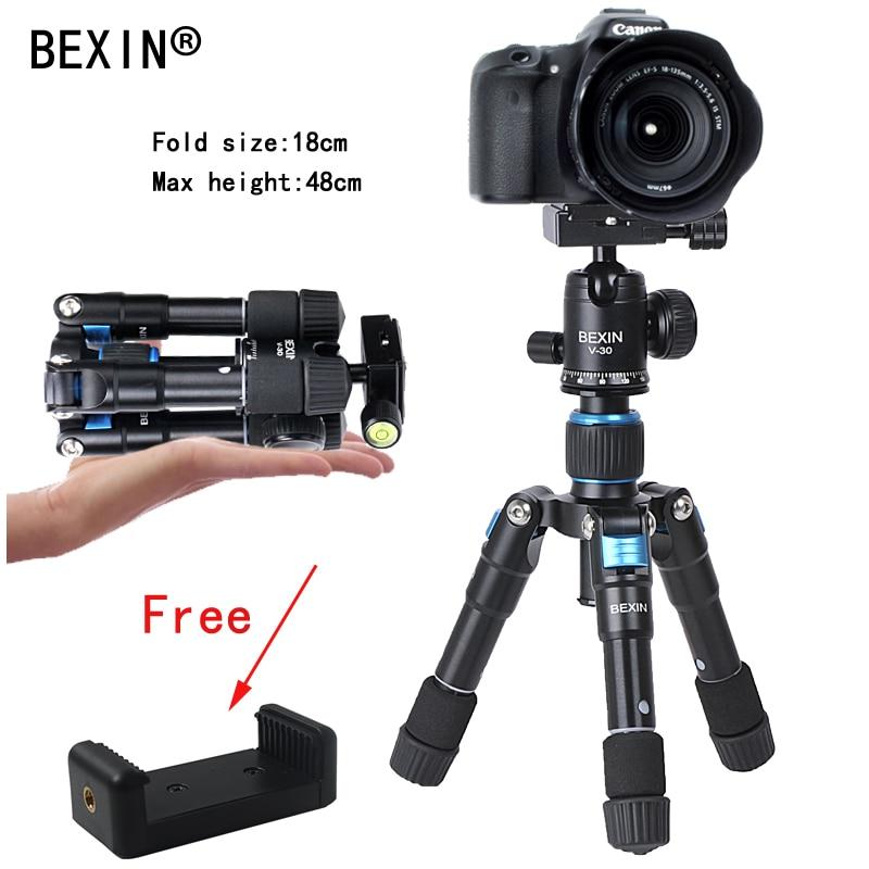 Professional Portable Travel Compact Aluminum Mini Tripod with Ball Head for Canon Nikon DSLR Digital Camera Smart phone