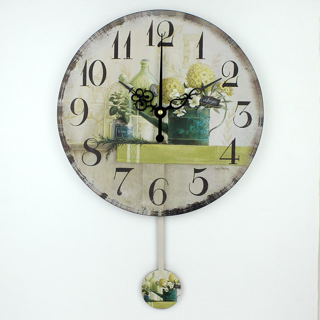 wholesale silent bedroom watch wall vintage home decor large size ...