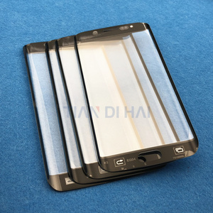 Image 4 - Ön Dış cam lens kapağı samsung için yedek Galaxy S6 Kenar G925 G925F S7 Kenar G935 G935F LCD cam ve B 7000 Tutkal & Aracı