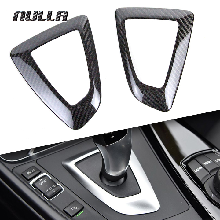 Cadre de garniture de panneau de changement de vitesse en Fiber de carbone NULLA pour BMW 1 2 3 4 Series F20 F21 F22 F23 F30 F32 F33 F36 RHD LHD