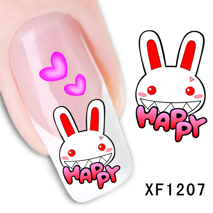happy rabbit design Water Transfer Nails Art Sticker decals girl women  manicure tools Nail Wraps Decals - Online Get Cheap Happy Design Nails -Aliexpress.com Alibaba Group