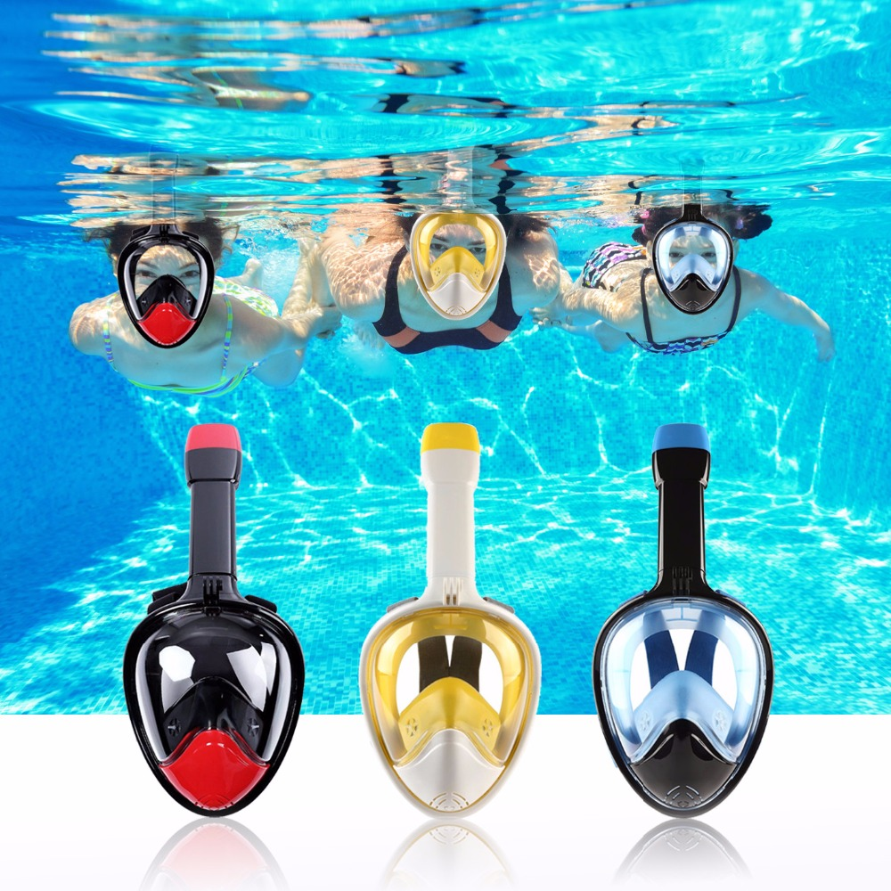 Anti Fog Diving <font><b>Mask</b></font> Snorkel Swimming Training Scuba mergulho 2 In 1 <font><b>full</b></font> face snorkeling <font><b>mask</b></font> Gopro Camera Dropshipping