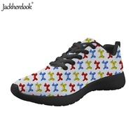 Jackherelook Ladies Sports Shoes Balloon Puppy Print Breathable Running Athletic Sneakers Students Adults Outdoor Trainers Shoe