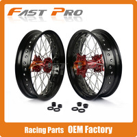 3 5 5 0 X 17 Wheel Hub Rim Set For Honda CRF250R 04 13 CRF450R