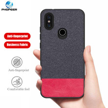 PHOPEER Case for Xiaomi Mi 6X A2 soft silicone edge fashion fabric shockproof back cover case xiaomi mi a2 mia2