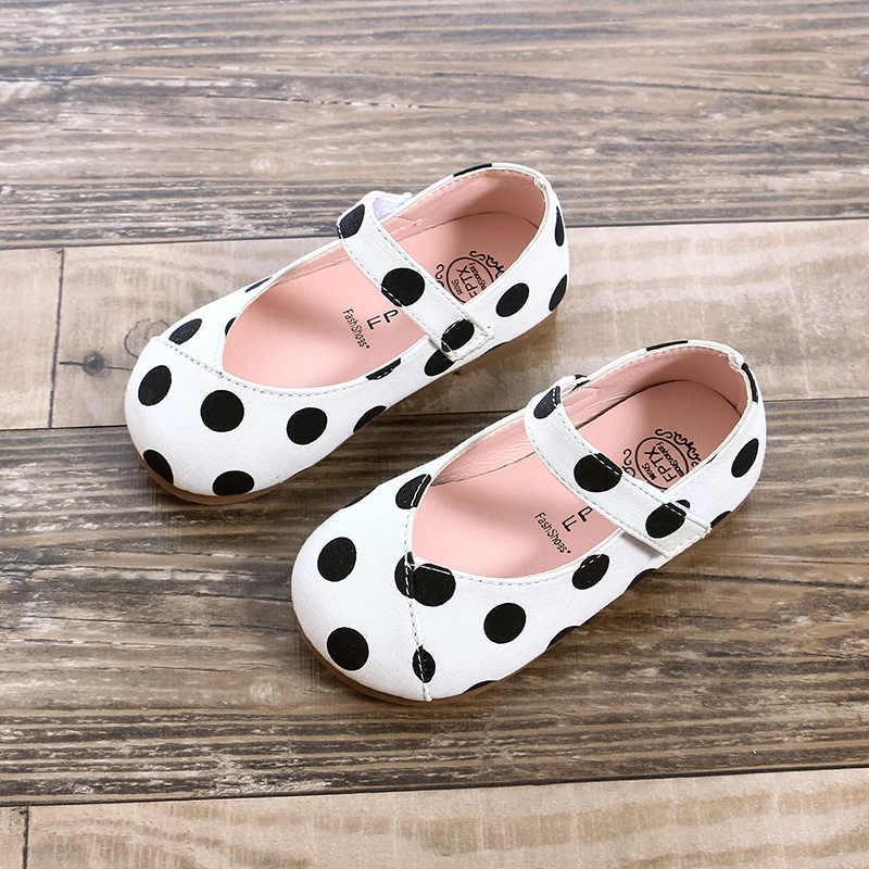 2018 Mùa Thu new kid giày cưới công chúa phẳng Thông Tư điểm cô gái siêu hoàn hảo giày Siêu mềm mại và thoải mái 1- 8 năm tuổi