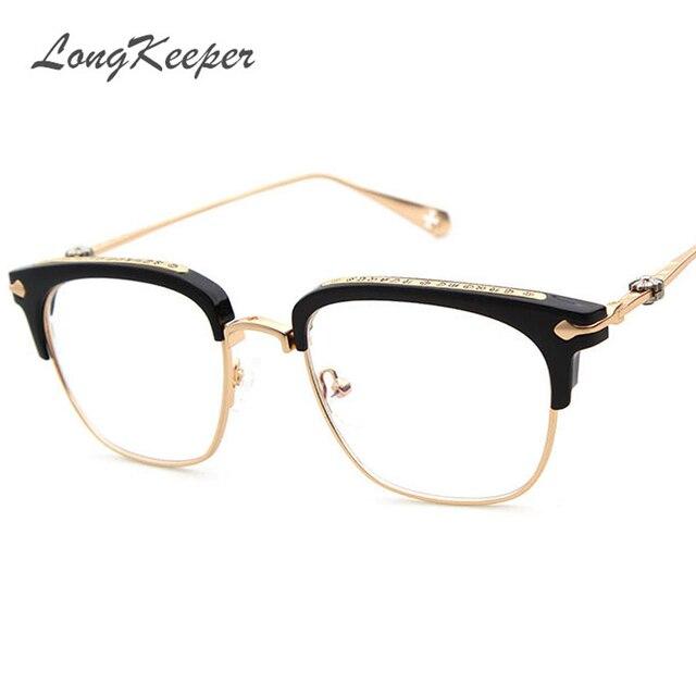 68f3cccf3724 2017 Brand Designer Gold Metal Eyeglasses Frame For Women Men Oversized  Square Eyeglass Frames Eyewear With Detachable Lens 873