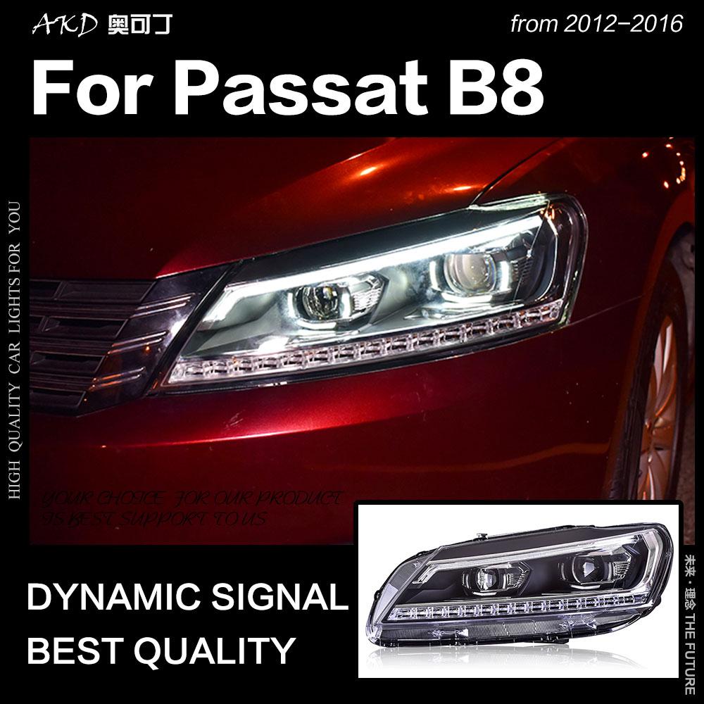 АКД стайлинга автомобилей для VW Passat B7 фары 2012 Passat нам светодиодный фар ДХО Hid лампы Глава Ангел глаз Би ксеноновые пучка аксессуары