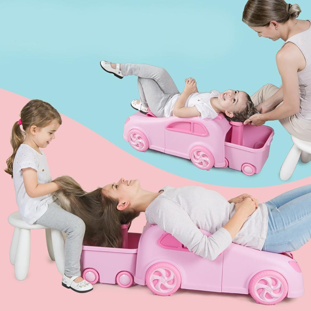 2018 newest cartoon cute car model children baby  kids shampoo chair  bebe safety care  hair  comfortable wash chair