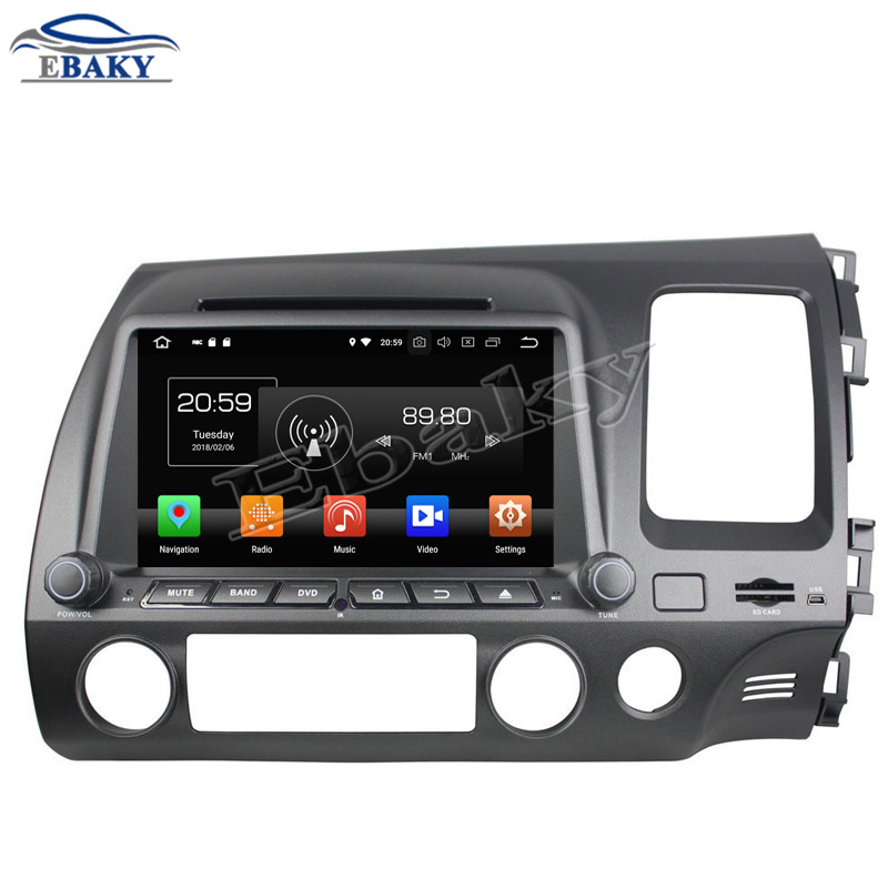 NaviTopia 8inch 2GB Octa Core Android 8.0 Car DVD Radio For Right Honda CIVIC2006 2007 2008 2009 2010 2011 with GPS