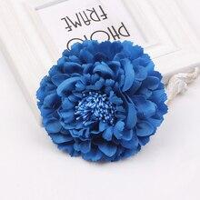 Hair accessory fabric peony big flower corsage brooch child full dress work wear hat clip