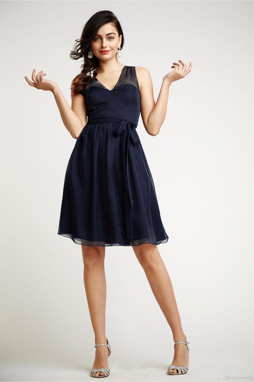 Vestido azul marino talla grande