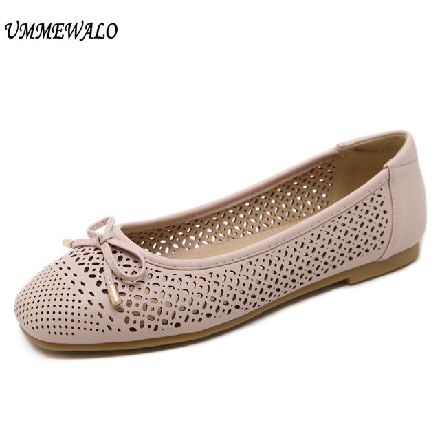 UMMEWALO Giày Đế Bằng Nữ Mềm Trơn Trượt Trên Cổ Giày Loafer Nữ Đế Cao Su Lái Xe Mộc Giày Loafer
