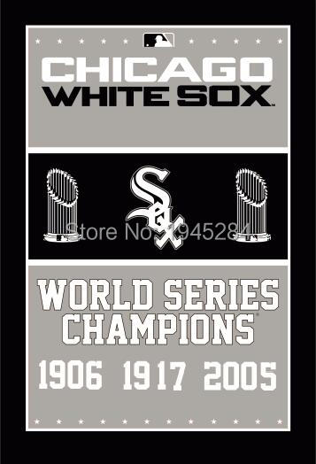 MLB Chicago White Sox World Series Champions Flag Banner New 3x5ft 90x150cm Polyester 8824, free shipping