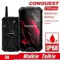 CONQUEST S8 IP68 прочный смартфон 4 Гб 64 ГБ Android 7,0 Восьмиядерный водонепроницаемый мобильный телефон NFC/IR/SOS/OTG/FM/Walkie talkie