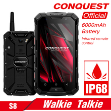 Get more info on the Original CONQUEST S8 Rugged Smartphone 4GB 64GB  Walkie Talkie Mobile Phone 6000mAh Battery NFC 4G LTE IP68 Shockproof Sellphone