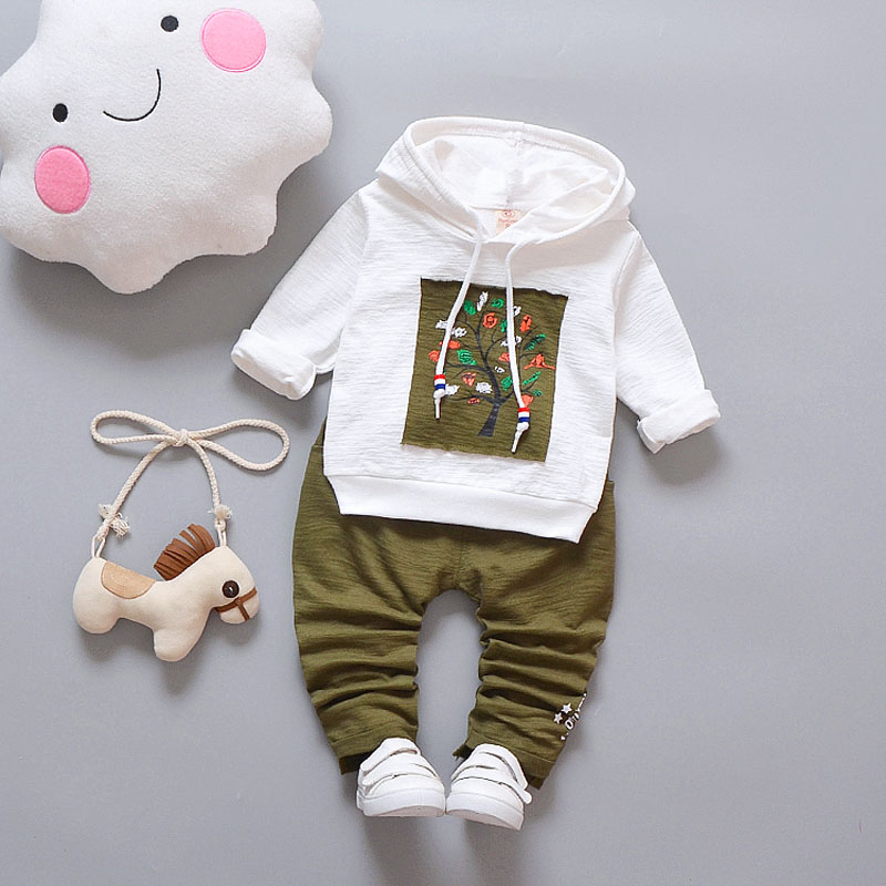 Kids Baby Boys Hooded Clothes Set For Casual 2018 New Spring Autumn Children's Clothing Suit 1 2 3 4 Years