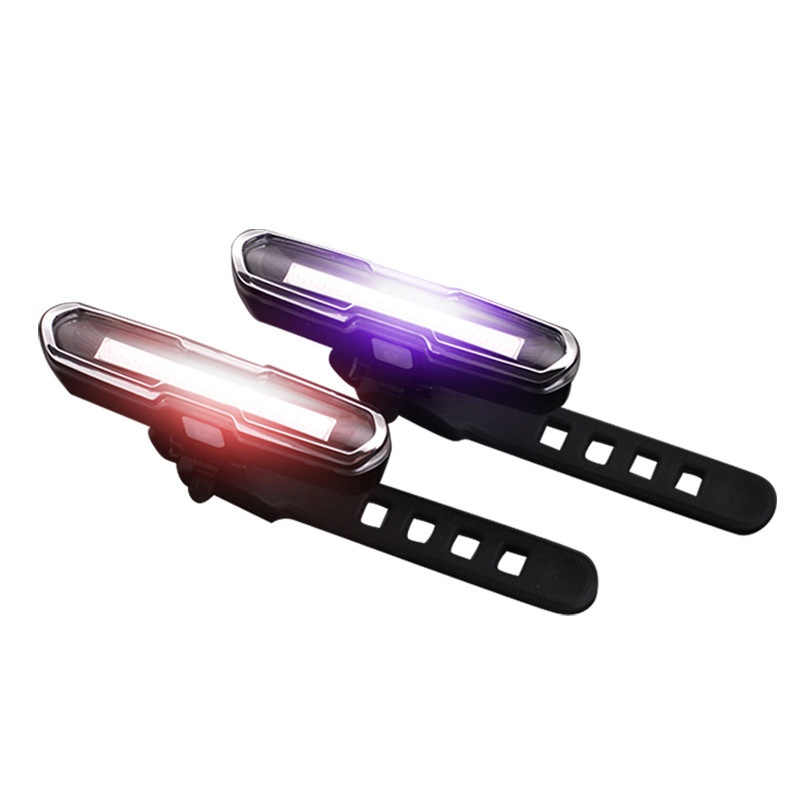 LED USB Rechargeable Front Rear Bicycle Light Lithium Battery Bike Taillight Cycling Helmet Light Lamp Mount Bicycle Accessories giyo laser bike taillight usb rechargeable led cycling rear light lamp 85 lumen mount red lantern for bicycle light accessories