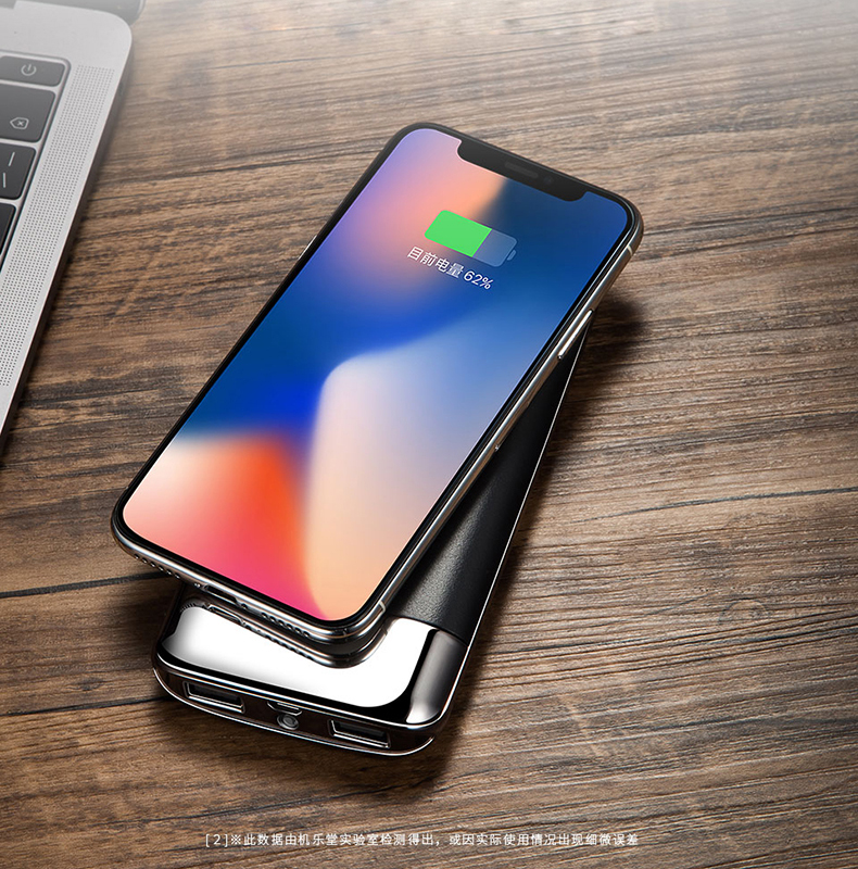 30000mah Power Bank External Battery Bank Built-in Wireless Charger Powerbank Portable QI Wireless Charger for iPhone XS Max 8 5
