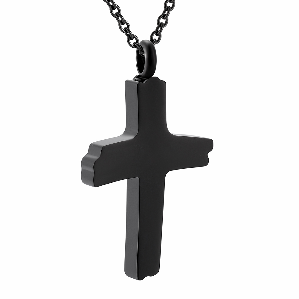 Cross Ashes Keepsake Jewelry Stainless Steel Birthstone Crystal Cross Religious Funeral Urn Casket Jewelry for women Free Chain+fill kit