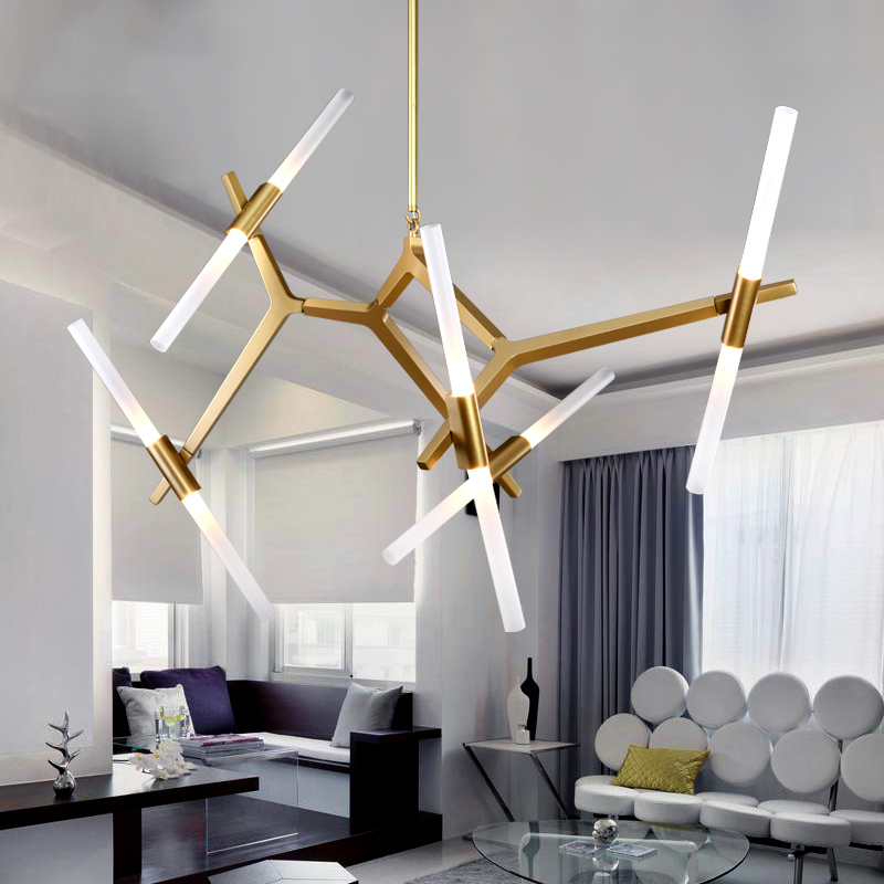 Led Pendant Lights Italian Roll Hill Hanging Lamps For Dining Room Tree Branch Rotated Lighting Restaurants Bar In From