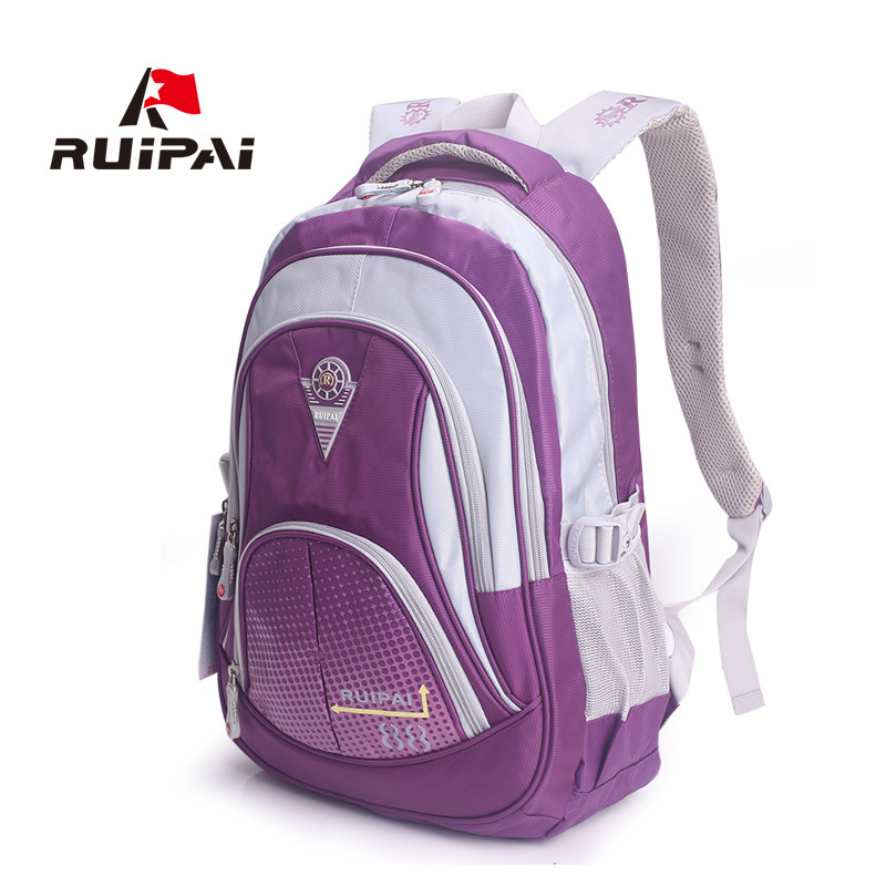 RUI PAI 2016 School Bags for Teenagers Boys Girls Children Students Backpacks large capacity lightweight durable Book bag