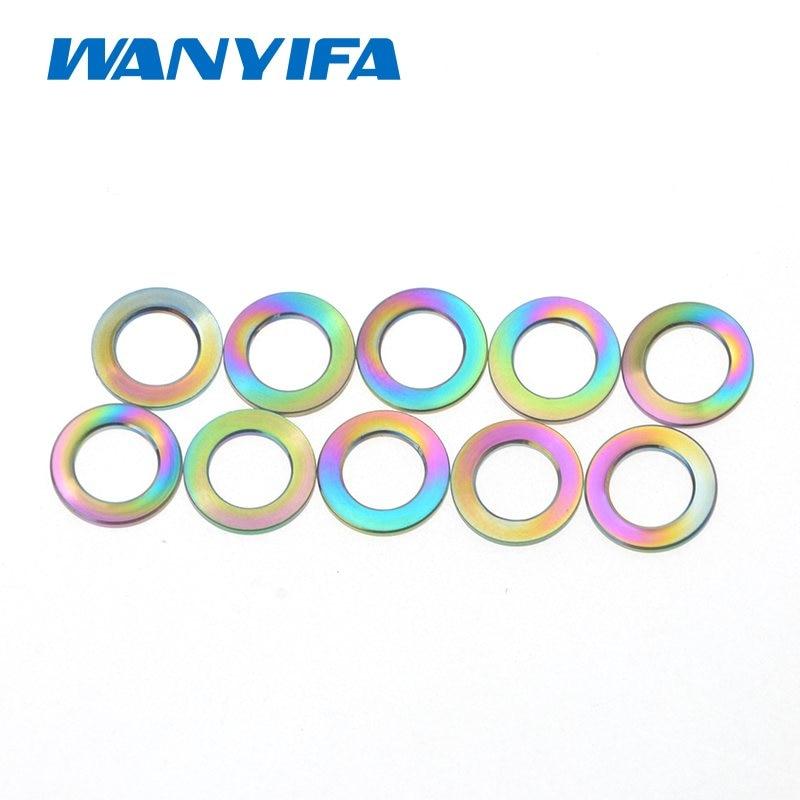 5x Titanium M8 Washers Bike Bicycle Light Weight