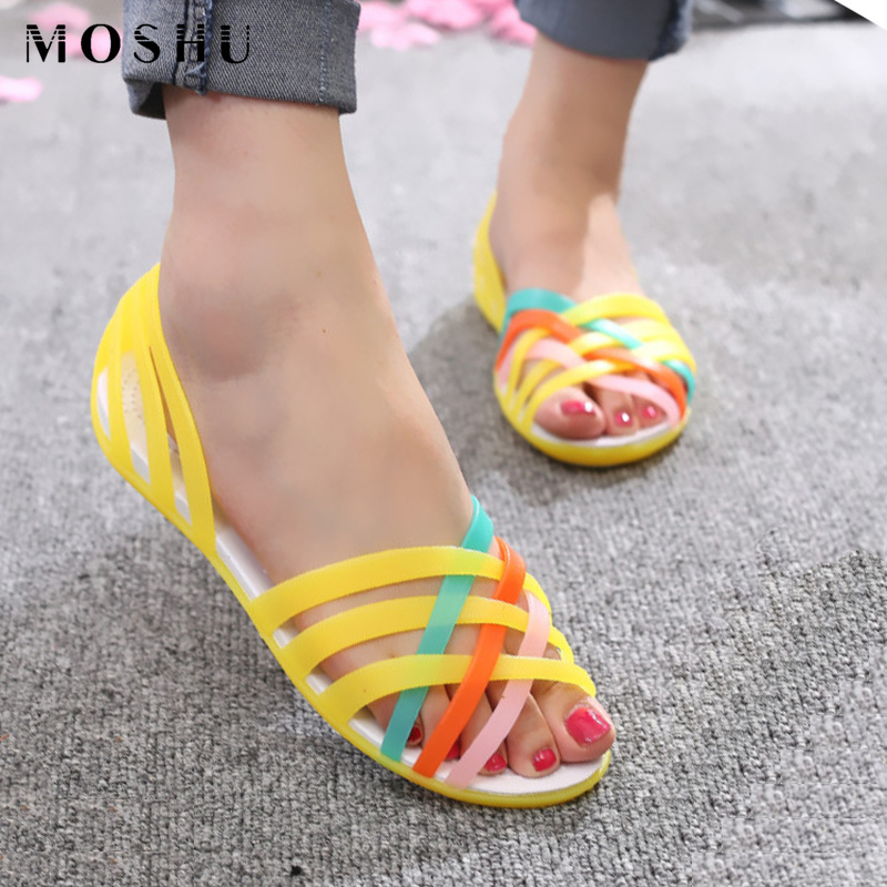 Summer Sandals Jelly-Shoes Waterproof Femme Beach Women for Feminias Flat Female Lady