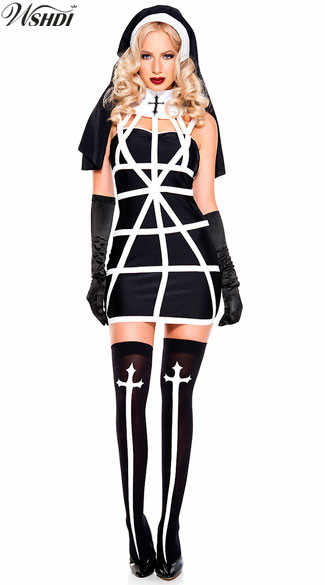 Detail Feedback Questions about 4Pcs Sexy Nun Costume Adult Women Halloween  Sister Cosplay Party Fancy Dress on Aliexpress.com  ae3cd428f687