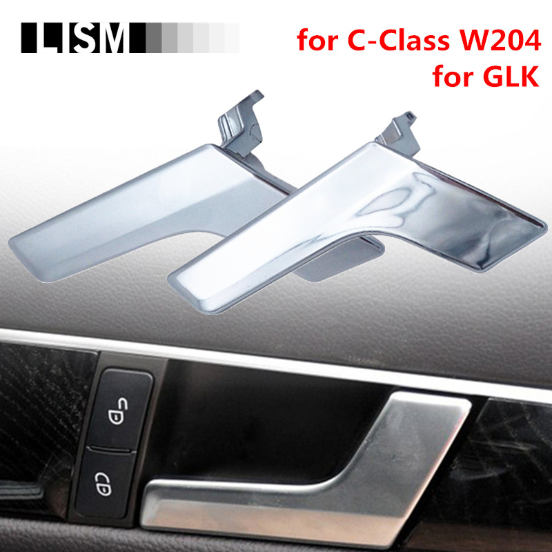 Car Interior Door Handles for Mercedes-Benz C-Class W204 GLK Inner Doors Panel Handle Bar Pull Trim Cover Chromed Mattte / L R