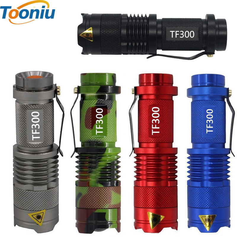 DZ20 Colorful Waterproof LED Senter Daya Tinggi 2000LM Mini Spot Lamp 3 Model Zoomable Peralatan Berkemah Torch Flash Light
