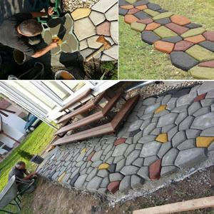 Image 4 - Black Plastic Making DIY Paving Mould Home Garden Floor Road Concrete Stepping Driveway Stone Path Mold Patio Maker