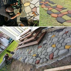 Image 4 - Plastique noir faisant bricolage moule de pavage maison jardin plancher route béton pas à pas allée pierre chemin moule Patio fabricant
