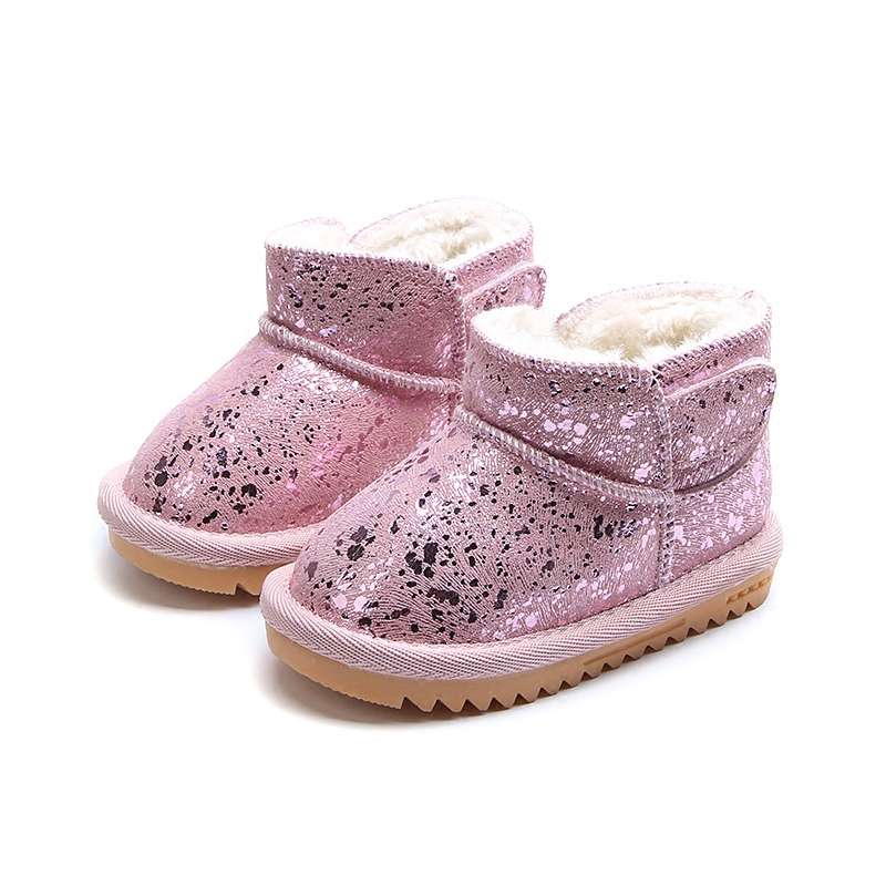 ChildrenS Snow Boots Shoes Kids Baby Warm Cotton Shoes Baby Toddler Soft Bottom Shoes Infant Boys/Girls Plush Velvet Boots