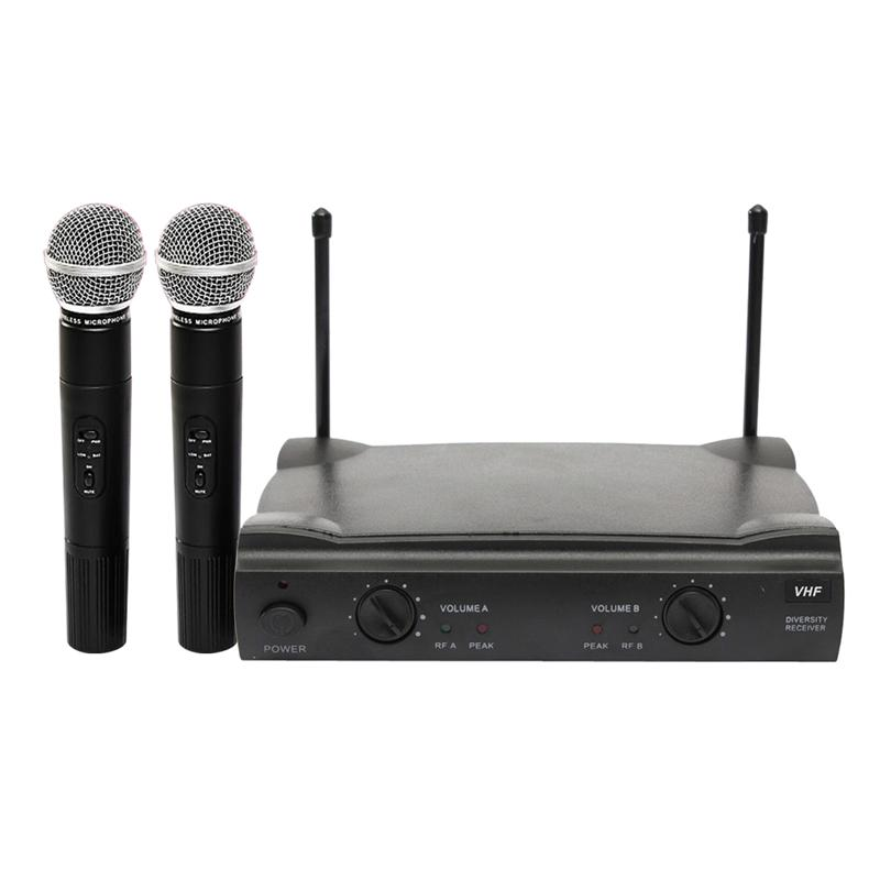 Professional Wireless Karaoke Microphone Set Bluetooth Dual Channal 2 Handheld With Cordless Receiver For Karaoke Party KTV цены онлайн
