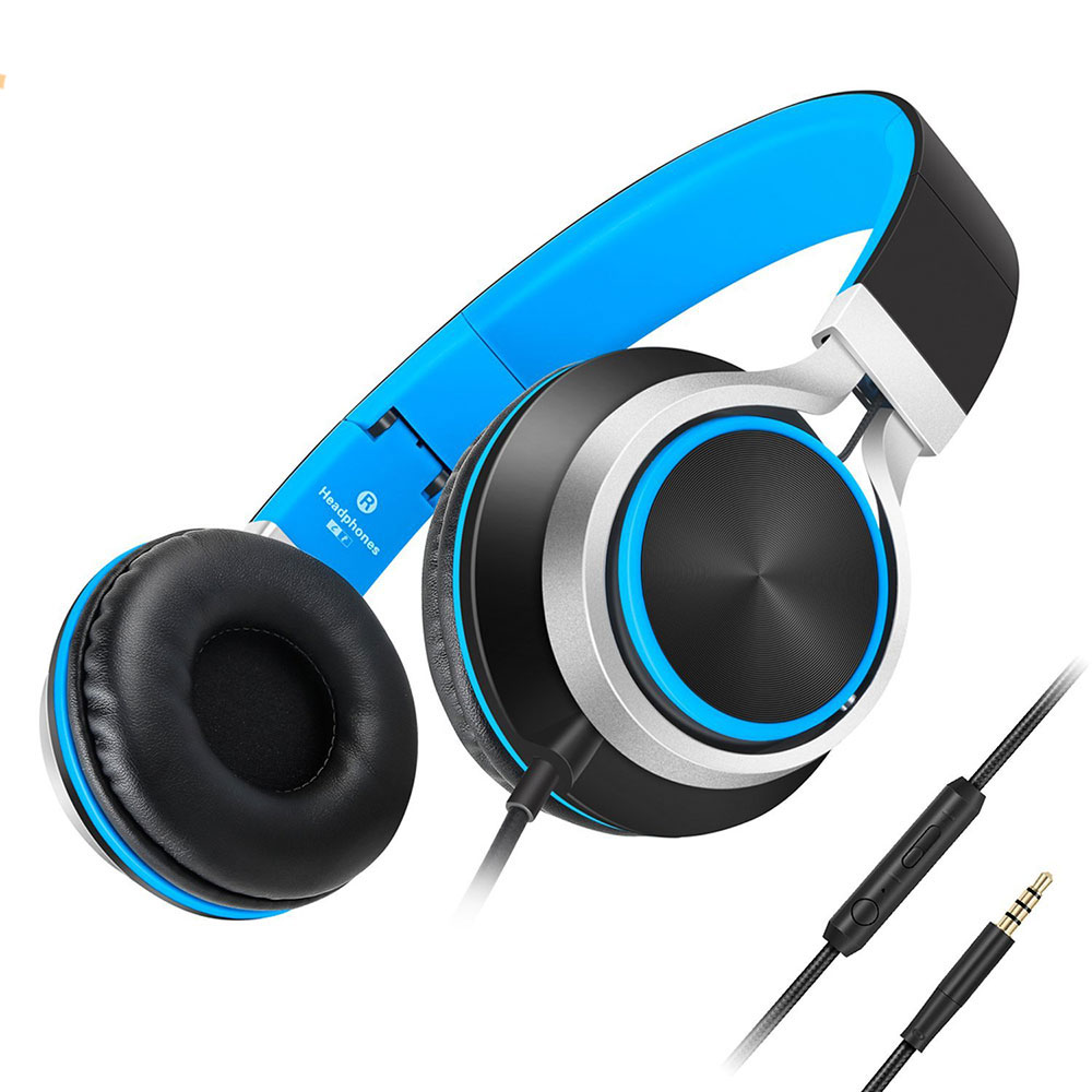 Sound Intone C8 Stereo Bass Wired Headphones with Microphone and Volume Control Over Ear Headset for computer Sony iPhone Xiaomi