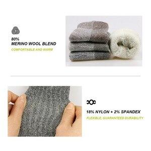 Image 4 - 3pairs/bag Vihir Men Winter Cushioned Merino Wool Socks High Knee Outdoor Sports Hiking Camping Climbing Socks Cycling Ski Socks
