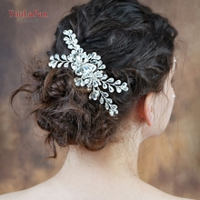 YouLaPan HP241 wedding hair combs hair accessories  bridal hair comb for bride vintage bridal hair comb rhinestone comb недорого