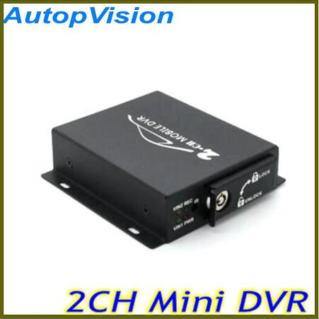 2Ch Vehicle Video Recorder Car/Bus mini Mobile Car Video DVR I/O Alarm Motion Detect Max Upto 128GB SD Card 2ch car dvr kit including 1pcs 2ch car dvr 2 car cameras 2 video cables diy installation dvr kit