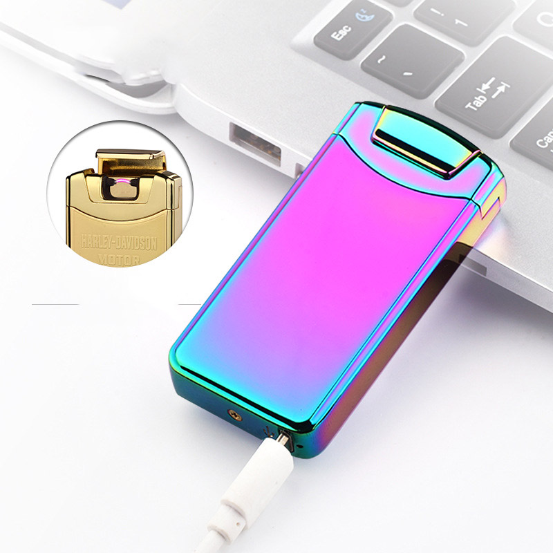 5pcs lot windproof electronic cigarette arc smoking lighter encendedor wholesale lighter portable bar USB rechargeable lighter