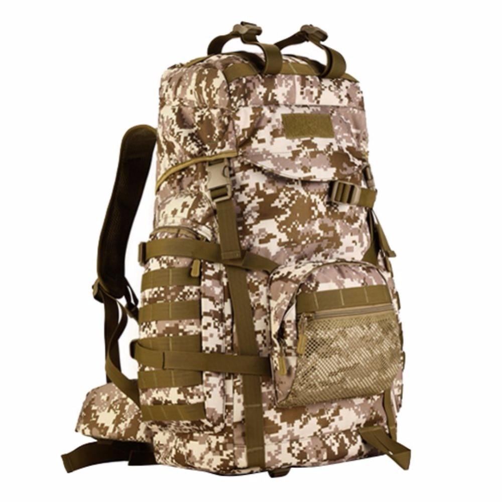 60L hommes femmes voyage en plein air randonnée escalade grande capacité étanche en Nylon sac à dos bagages sac Packs militaire armée sacs à dos